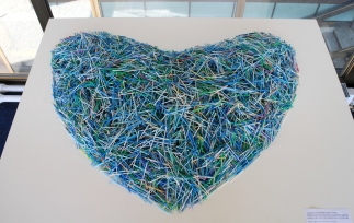 Coeur de 11'000 cotons-tiges / Heart made of 11'000 cotton swabs © www.recupartivisme.org